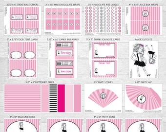Printable DIY Eloise at the Plaza Theme Personalized Happy Birthday LARGE Party Package