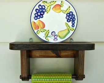 Shelf With Plate Groove Etsy