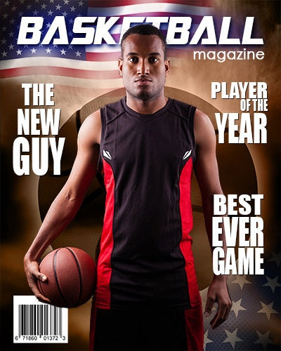 basketball magazine cover template from arc4studio on etsy studio. Black Bedroom Furniture Sets. Home Design Ideas