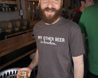 Craft Beer & Bourbon t-shirt- My Other Beer is Bourbon