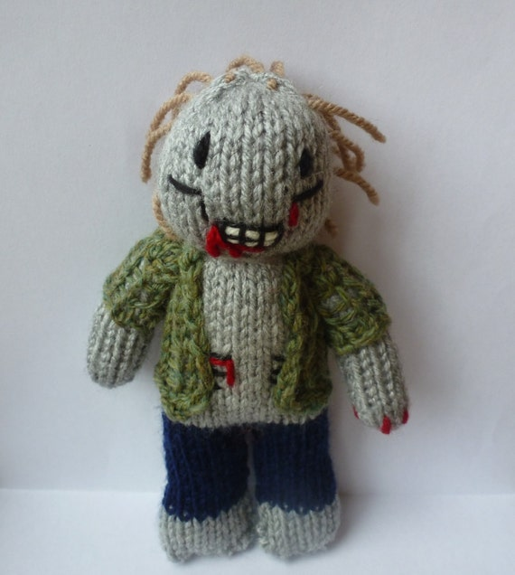Zombie Knitting Pattern : Zombie knitted doll