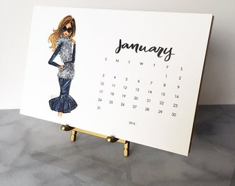 SALE - 2016 Desk Calendar with Gold Stand