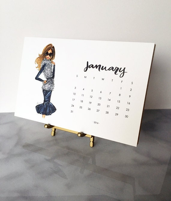 Desk Calendar Stand Diy : Sale desk calendar with gold stand