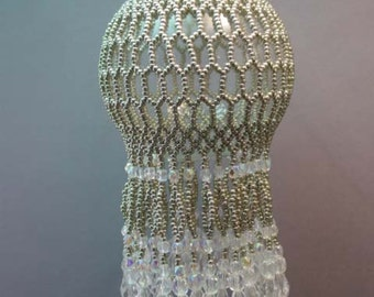 Silver & Crystal Honeycomb Beaded Ornament Kit