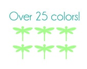 Dragonfly Nail Decals - Vinyl, Custom Choice of Color