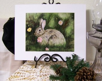 Rabbit, animal Art Print 8inx10in