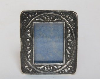 Tiny Antique Italian sterling silver picture frame/picture frame/ sterling silver frame/ tiny frame /small silver picture frame / mini frame