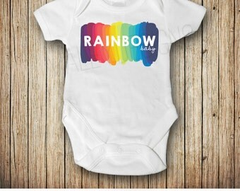 Rainbow Baby Announcement- Rainbow Baby Shower Gift - Rainbow Baby Outfit - Pregnancy After Loss - Miracle Baby
