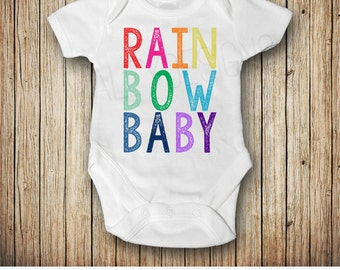 Rainbow Baby Pregnancy Announcement, Rainbow Baby Outfit , Pregnancy After Loss, Rainbow Baby Shower Gift, Miracle Baby