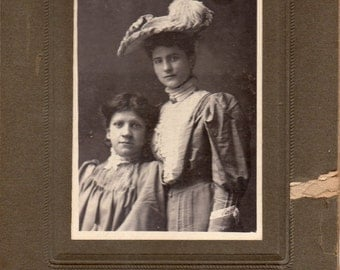 Antique Photo of Two Lovely Ladies