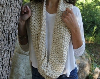 "Infinity Scarf, Cream ""The Emily"""