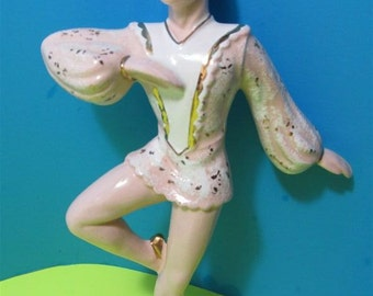 Vintage  Ceramic Ballet Male Dancer Mahana Importing#344  Figurine Collectible Collector