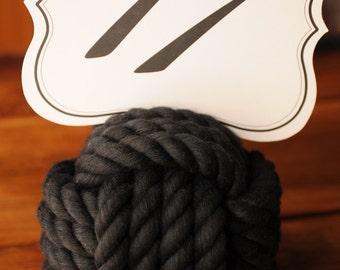 Nautical Wedding - Black Cotton Rope - Nautical Decor - Black Wedding Decor - (this is per knot)