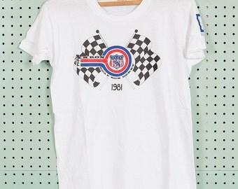 80s Vintage Akron Area Soap Box Derby Montgomery Ward T Shirt Size 20 1981