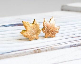Golden earrings - gold plated