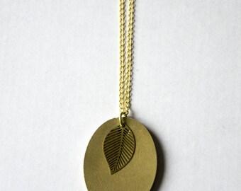 Golden concrete necklace