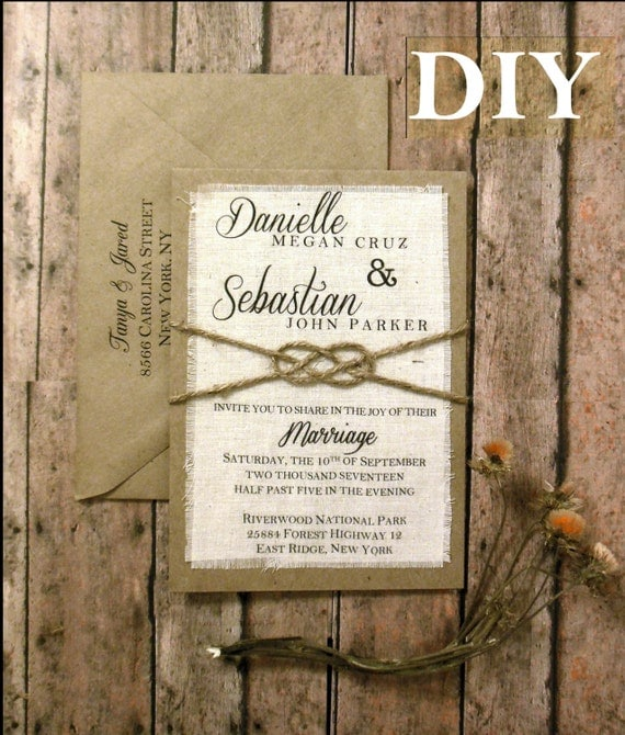Diy Wedding Invitations Kits: DIY Pre Made Rustic Wedding Invitation Kit Tie The Knot