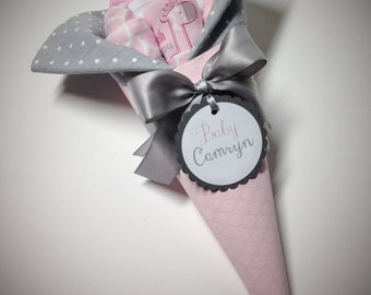 Baby Bouquet -  Baby Girl Gift - Baby Shower Gift - Baby Girl Baby Shower - Baby Shower Decor - Baby Accessories - Personalized Baby Gift
