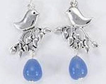 Bluebird of Happiness Drop Earrings