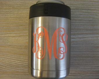 Yeti Monogram Decal - Yeti Decal - Monogram Yeti Decal - Yeti Colster Decal - Monogram Decal - Yeti Monogram - Cup Decal - Decal Yeti