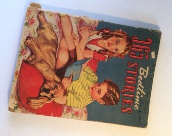 365 Bedtime Stories, 1942, A Story for Every Day in the Year, Large Softcover Book, Alice Sankey
