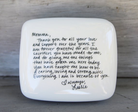 Handwritten letter box message on top of box wedding thank like this item expocarfo