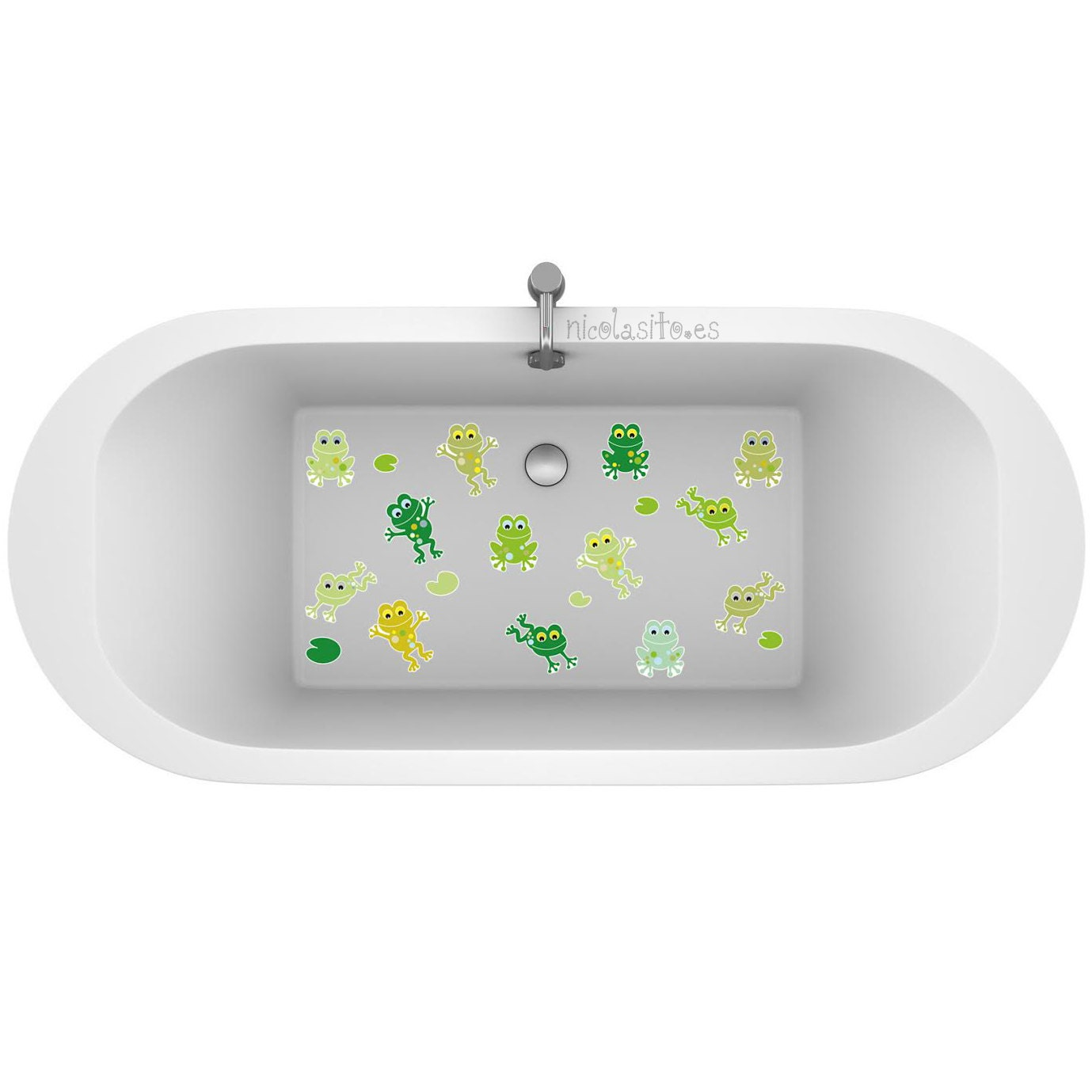 non skid little frogs vinyl for shower kids deco stickers for. Black Bedroom Furniture Sets. Home Design Ideas