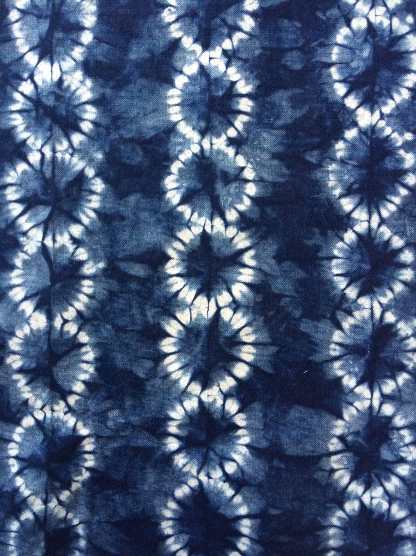 Indigo Shibori Fabric Hand Dyed Fabric