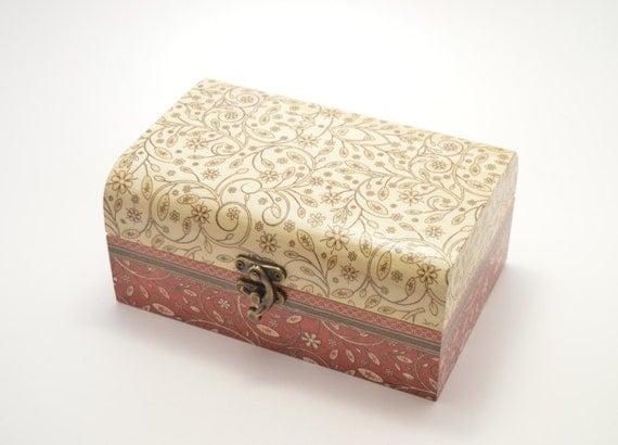 Wooden jewelry box decoupage box jewelry box shabby by ...