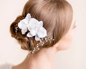 Wedding Head Piece with Orchids - Bridal Headpiece - Wedding Headpiece - Flower Hairpiece - Bridal Hair Accessories