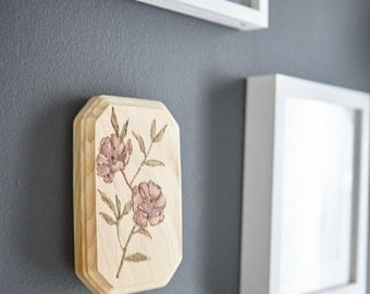 Purple Floral Plaque