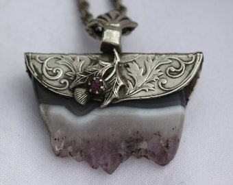 Amethyst in Customized Vintage Sterling