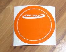 Disc Golf Disc Vinyl Decal Sticker for Cars, Trucks, Laptops, Tablets, DG Discs, Bumper Sticker Innova Discraft Target Chains DIsk Stamp