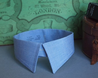 Detachable collars - blue collar - removable collar - dandy - 70's - hipster style - gentlemans accessory - menswear - gift for him