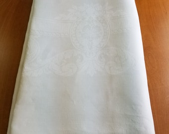 Vintage Damask Tablecloth  #D24