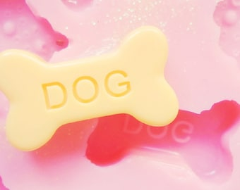 20mm Dog Bone Flexible SIlicone Mold - Decoden Kawaii Sweets Resin Fimo Polymer Clay Sculpey Wax Soap Stampi Charm Cabochon