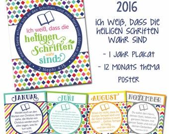 2016 LDS Primary Theme Posters - ich weiß, dass die heiligen schriften wahr sind - German - Deutsch - Primarvereinigung