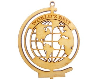 Worlds Best Gifts - Globe Ornament - Worlds Best - Personalized Free