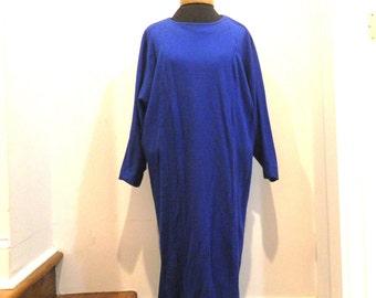 Nicole Miller shapless dress in royal blue