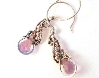 Camille Earrings in Amethyst Sterling Silver