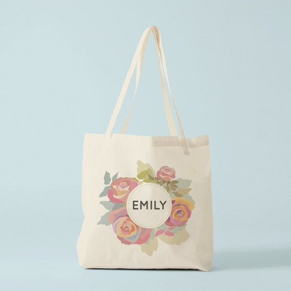 Tote bag with the name of your choice, custom canvas bag, groceries bag, yoga bag, boho tote bag, gift for coworker, novelty gift.