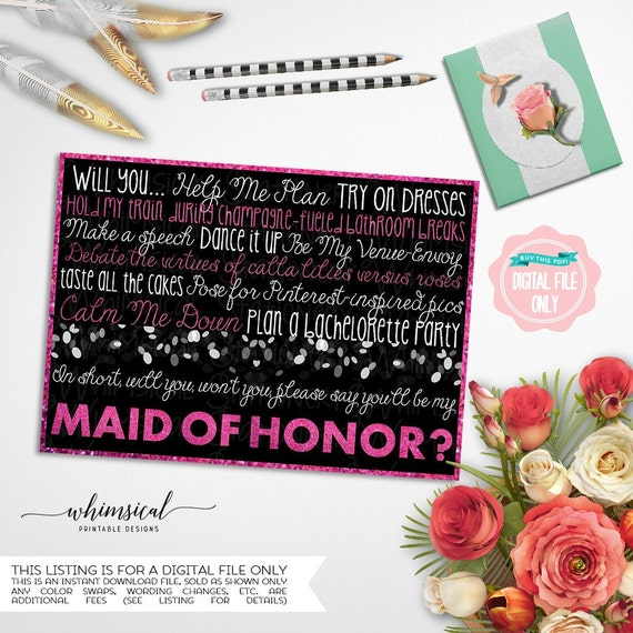 how to ask co maids of honor