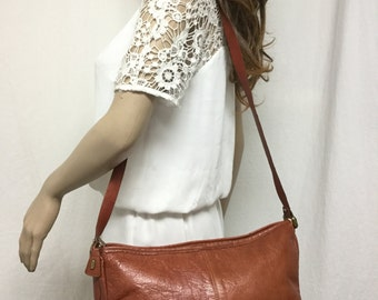 Phillippe leather purse,bag,brown leather purse,Shoulder Bag, Soft leather