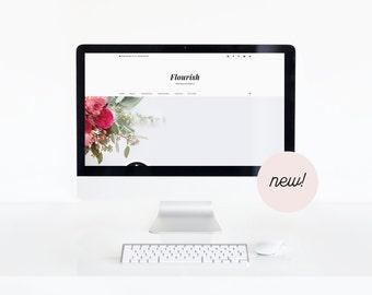 Flourish • Feminine Blogger Template • Small Business Blog Theme • Lifestyle Blog Design • FREE installation.