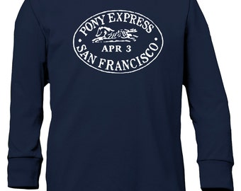 Pony Express Long Sleeve Youth T-Shirt - Horse and Equestrian Clothing for Girls and Teens - Mommy and Me