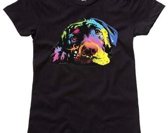 Lazy Labrador Colorful Women's T-Shirt - Ladies / Teen Dog Shirt