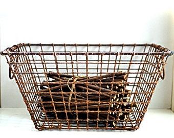 basket oyster vintage French industrial