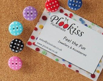 Punaises colorées, Polka Dot carte Pins, brillant élève Stripey Deco, accessoire de tableau d'affichage, décoration de bureau, des cadeaux pour les femmes, salle d'artisanat
