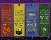 Sorting House Quotes - Harry Potter Inspired - 2x6 Bookmark, Laminated;