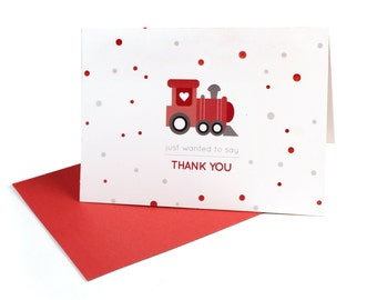 Train Themed Thank You Notes